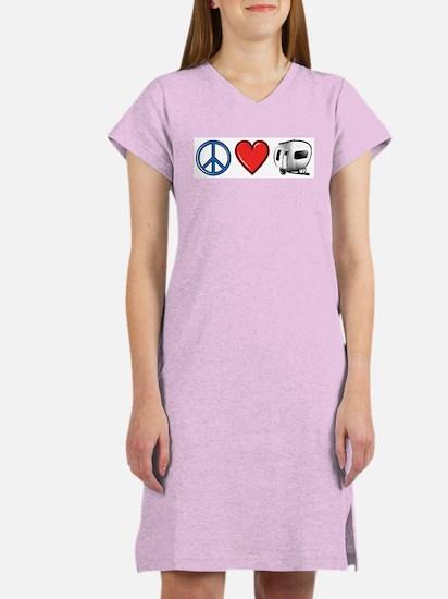 Peace Love & Camping Women's Nightshirt