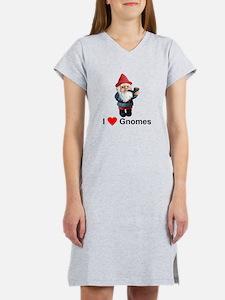 I Love Gnomes Women's Nightshirt