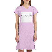 Alopecia (old typewriter) Women's Nightshirt