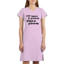 What Happens At Grandma's Women's Nightshirt