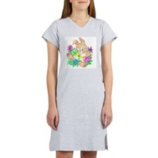 Bunny With Flowers Women's Nightshirt