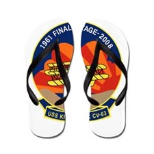 Cute Uss kitty hawk Flip Flops
