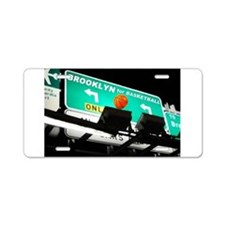 BROOKLYN BASKETBALL Aluminum License Plate