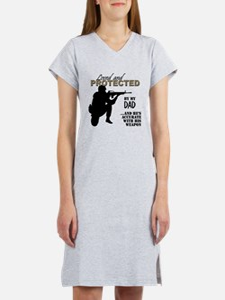 Cute Marine step dad Women's Nightshirt