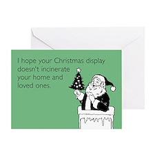Christmas Display Greeting Card