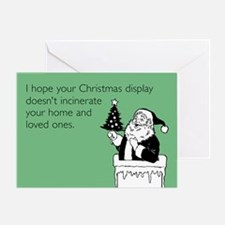 Christmas Display Greeting Card