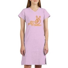 Give Peace a Chance - Hand Sign - Orange Women's L