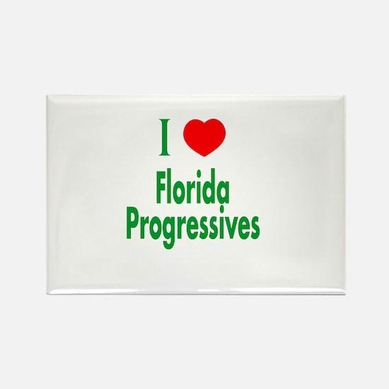 I Love Florida Progressives Rectangle Magnet