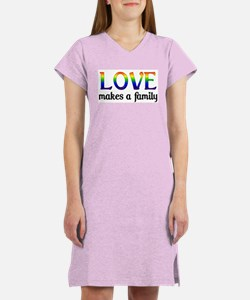 Love Makes A Family Women's Nightshirt