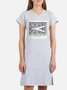 Scrapbooker Barcode Women's Pink Nightshirt