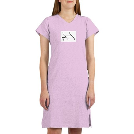 shift pattern Women's Nightshirt