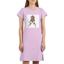 Sock Monkey Sitting -- Women's Nightshirt