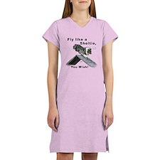 Shelties Fly- Agility Women's Nightshirt