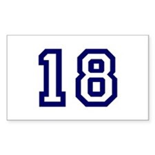 Number 18 Rectangle Decal