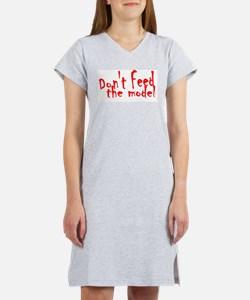 Don't Feed The Model Women's Pink Nightshirt