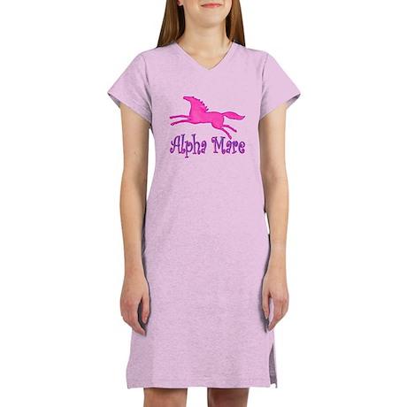 Alpha Mare. Pink Horse Women's Nightshirt
