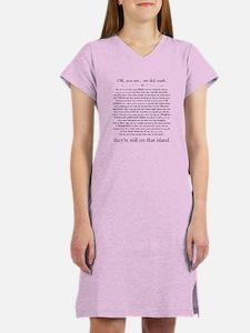 Lost - Hurley's Recap Women's Nightshirt