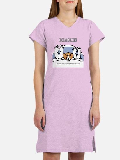 Beagle bed warmers Women's Nightshirt
