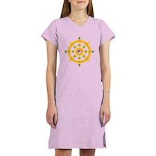 Dharmachakra wheel Women's Nightshirt