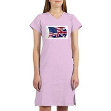US UK Flag Women's Nightshirt