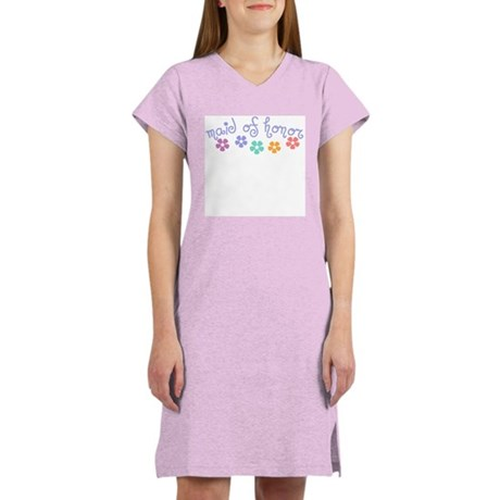 Girly-Cue Maid of Honor Women's Nightshirt