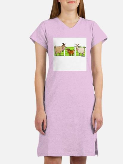 3 goats Women's Nightshirt