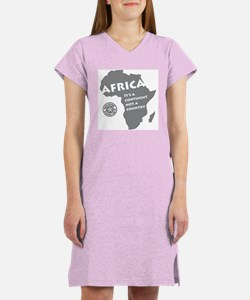 Africa Is A Continent Women's Nightshirt