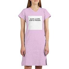 Save a cow eat a vegan Women's Nightshirt