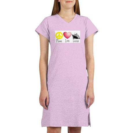 Peace, Love, Cruises Women's Nightshirt