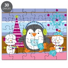 Penguin and Pastels Puzzle