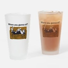 NMtl Where U Gonna Sit? Drinking Glass