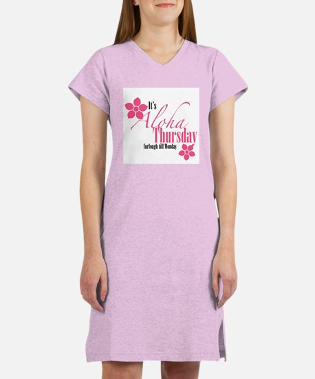 It's Aloha Thursday Floral Women's Nightshirt
