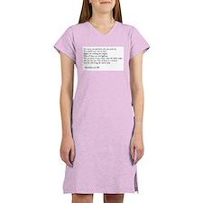 Heraclitus Quote Women's Pink Nightshirt