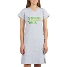 Green is the new Pink Women's Nightshirt