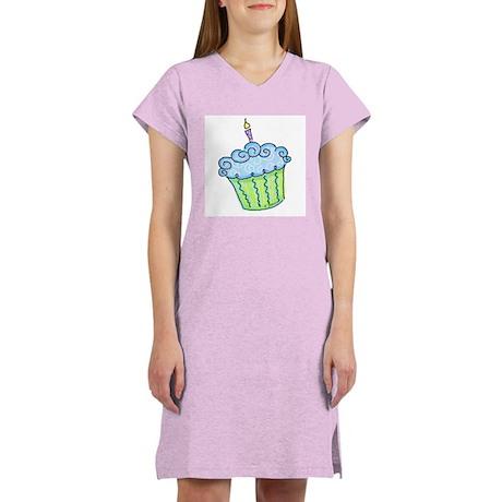 Cute Cupcake (blue) Women's Nightshirt
