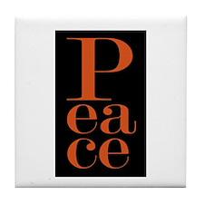 PEACE VERTICAL Tile Coaster