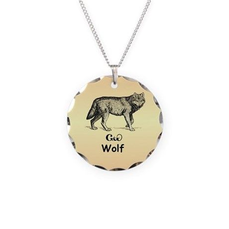 Cherokee Wolf Necklace Circle Charm