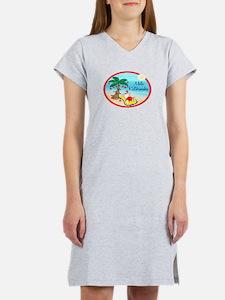 Hawaiian Christmas Lazy Santa Women's Nightshirt