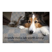 Cute Friendship and or best friends Postcards (Package of 8)