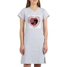 MareNFoal Heart Women's Pink Nightshirt