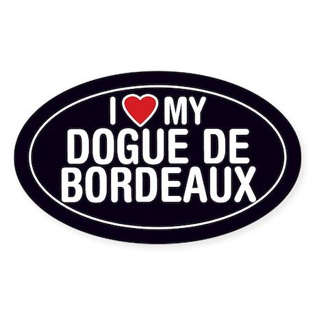 I Love My Dogue de Bordeaux Oval Sticker/Decal