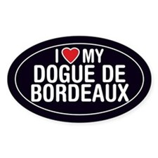 I Love My Dogue de Bordeaux Oval Sticker/Decal