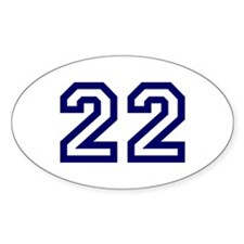 Number 22 Oval Decal