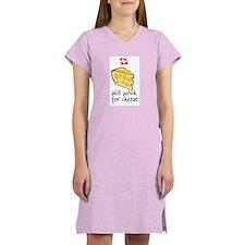 Work for Cheese Women's Yellow Nightshirt