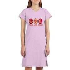 PEACE - LOVE - GUARD Women's Nightshirt