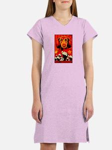 Long Hair Dachshund Revolution! Women's Nightshirt