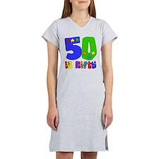 50 is Nifty (stars) Women's Nightshirt