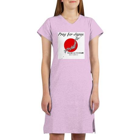 Pray for Japan Women's Nightshirt