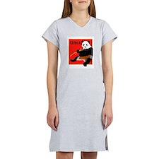 CHINA Panda Bear Red Women's Nightshirt