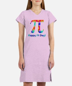 Neon Pi Day Design Women's Nightshirt
